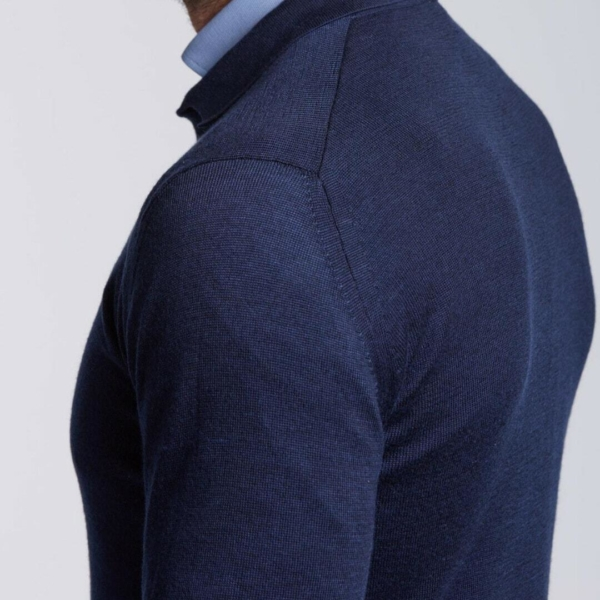 pull merinos et tencel Homme col boutons Amsterdam wolbe