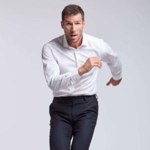 chemise anti transpiration Tencel blanche Wolbe