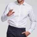 chemise anti transpiration Tencel blanche Wolbe