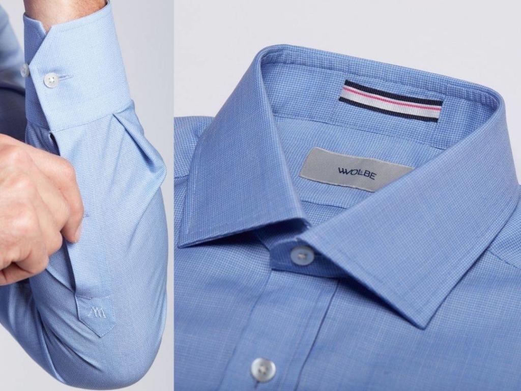 chemise en laine merinos Wolbe vichy
