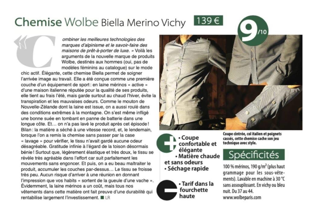 wolbe chemise Biella merinos dans e bike life magazine