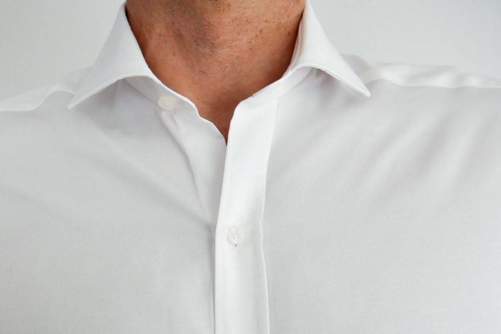 Chemise serenity anti transpiration Wolbe bouton décalé