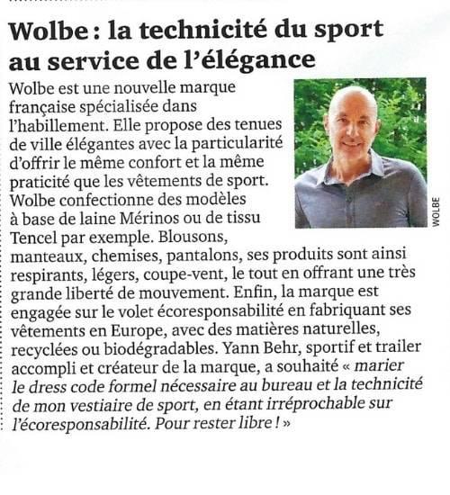 parution Jogging Wolbe janvier 21