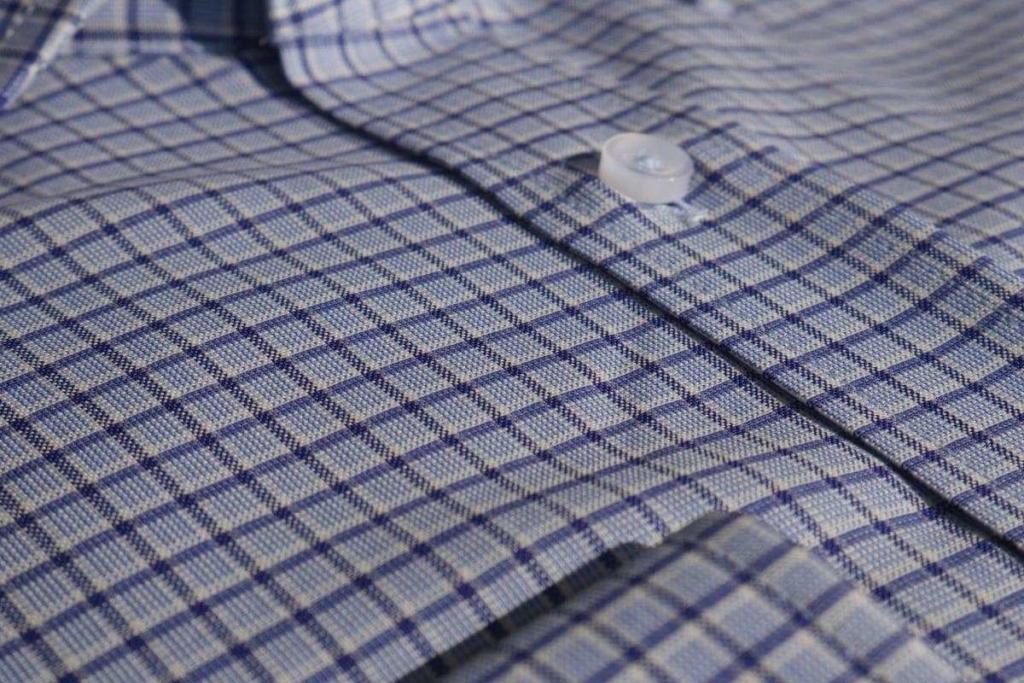 chemise homme 100% laine merinos vichy Biella Wolbe