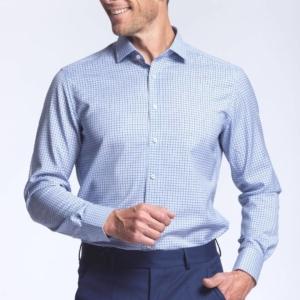 chemise homme 100% laine merinos carreaux Biella Wolbe
