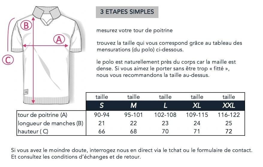 guide des tailles polo