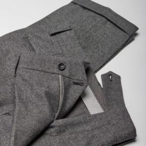 Frison pantalon flanelle sans pince gris Wolbe