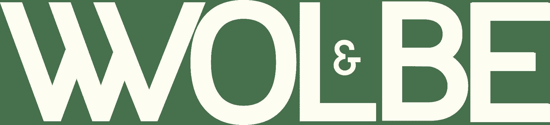 logo Wolbe ecru horizontal