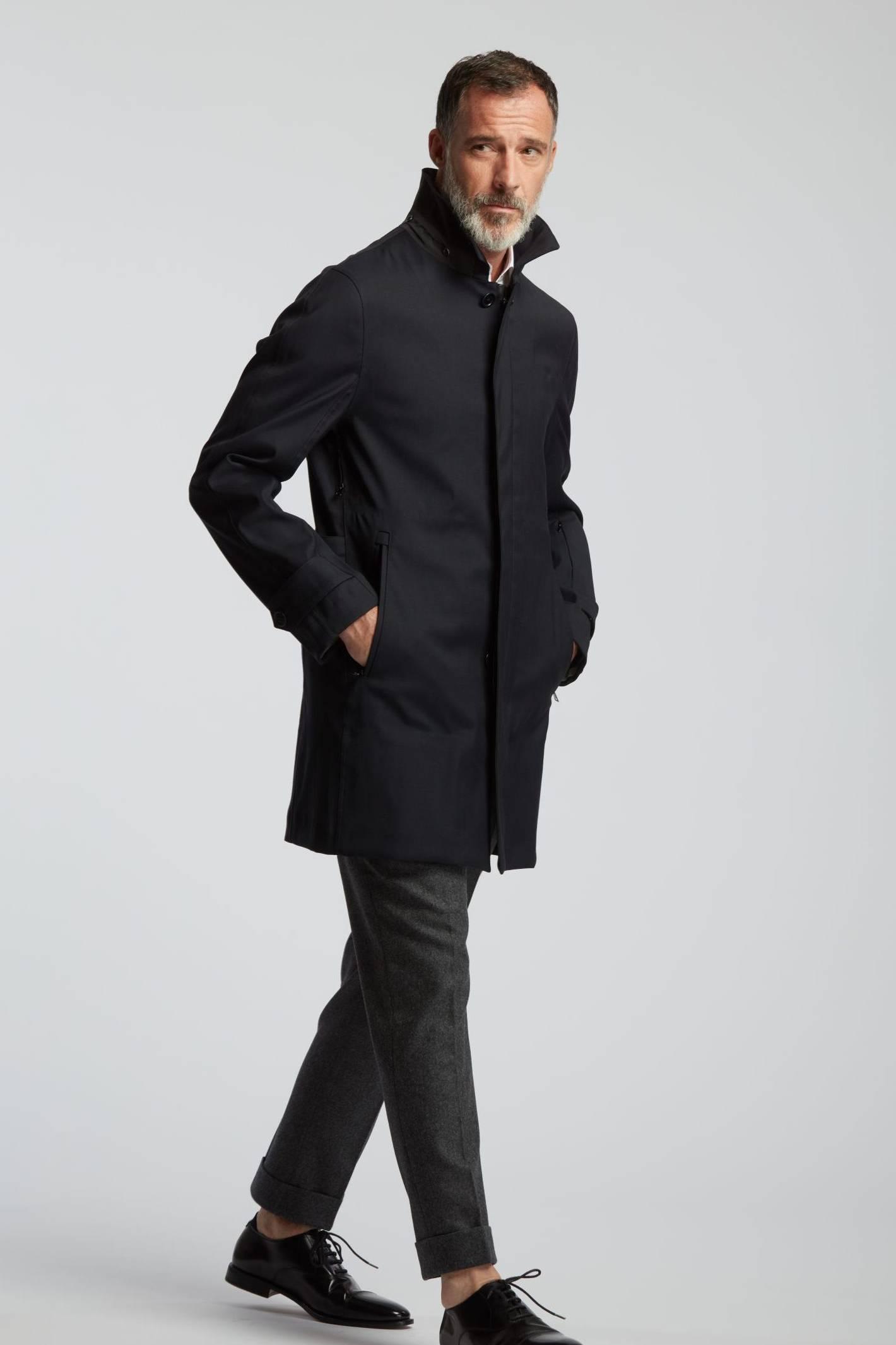 trench coat wolbe bleu marine